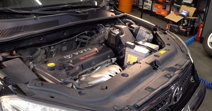 Byt Fjädrar på Toyota RAV4 III 2006 2.2 D 4WD (ALA30_) på egen hand