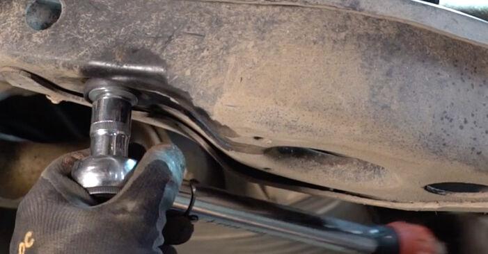 Quão difícil é efetuar a substituição de Molas no Toyota RAV4 III 2.0 4WD 2011 por si mesmo - descarregue o guia ilustrado