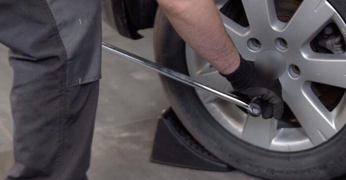 Wie Federn VW Golf V Schrägheck (1K1) 1.6 2004 austauschen - Schrittweise Handbücher und Videoanleitungen