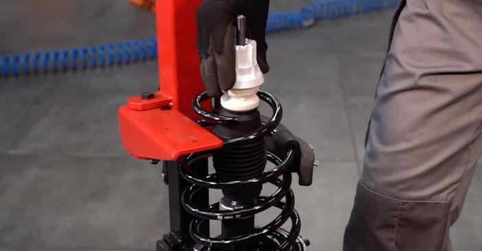 Recommandations étape par étape pour remplacer soi-même Fiat Punto 188 2012 1.9 JTD Ressort d'Amortisseur