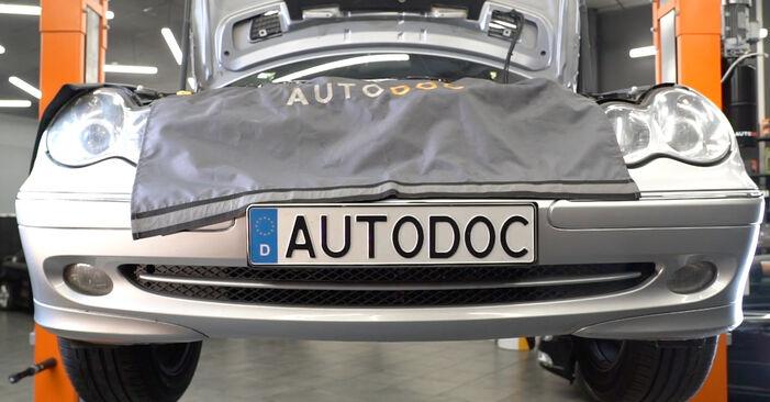 Ölfilter Ihres Mercedes W203 C 200 1.8 Kompressor (203.042) 2000 selbst Wechsel - Gratis Tutorial