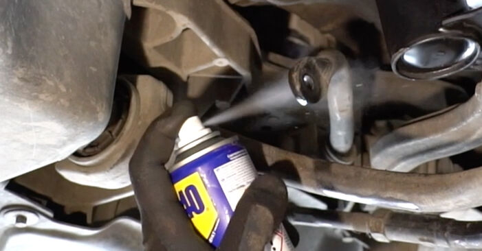 Changing of Anti Roll Bar Links on Mercedes W203 2000 won't be an issue if you follow this illustrated step-by-step guide