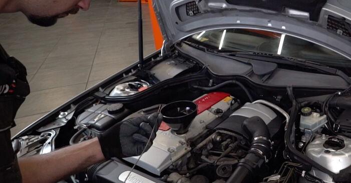 Kuinka vaihtaa Öljynsuodatin MERCEDES-BENZ C-sarja Sedan (W203) 2004 -autoon - vinkkejä