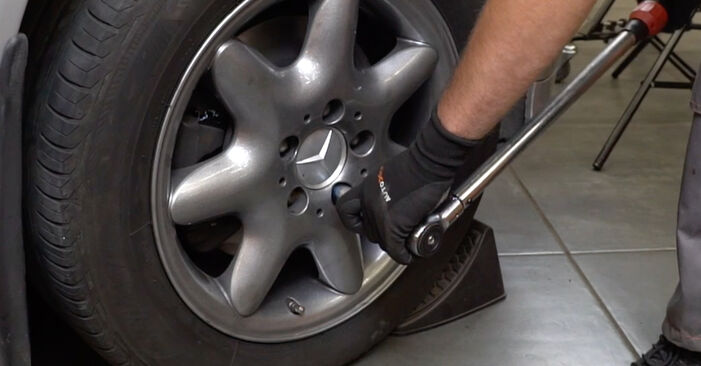 Replacing Brake Pads on Mercedes W203 2002 C 220 CDI 2.2 (203.006) by yourself