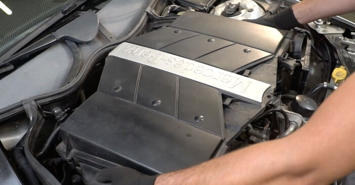 How to replace Mass Air Flow Sensor on MERCEDES-BENZ C-Class Saloon (W203) 2005: download PDF manuals and video instructions