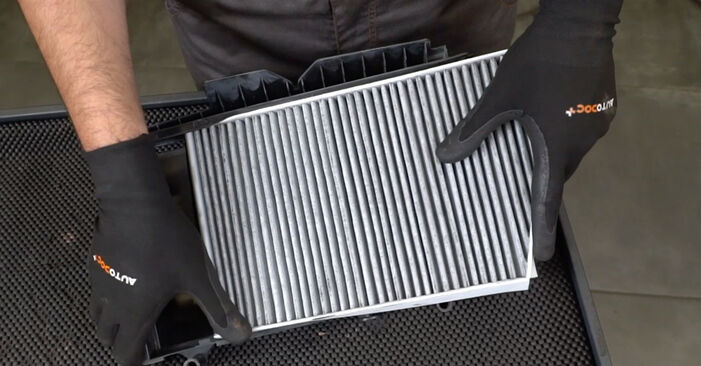 Changing of Pollen Filter on Mercedes W203 2000 won't be an issue if you follow this illustrated step-by-step guide