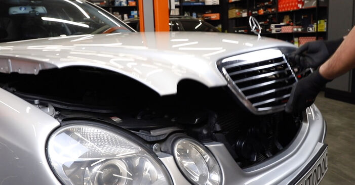 How to change Poly V-Belt on Mercedes W211 2002 - free PDF and video manuals