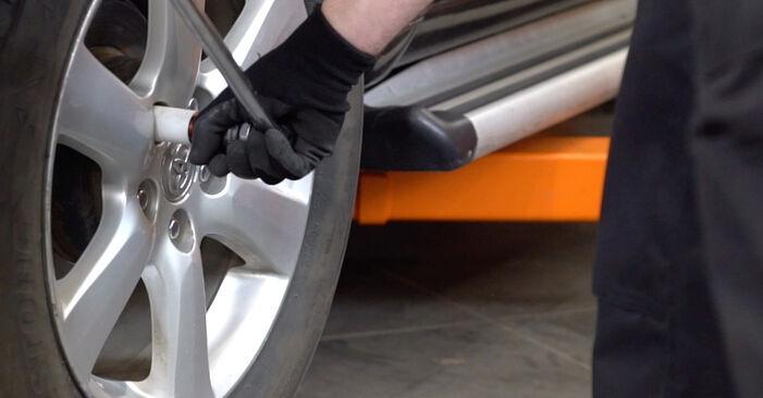 Como trocar Tirante da Barra Estabilizadora no Toyota RAV4 III 2005 - manuais gratuitos em PDF e vídeo