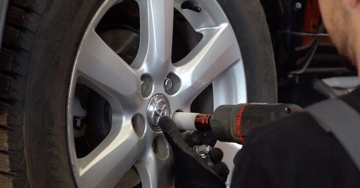 Toyota RAV4 III 2.0 4WD (ACA30_) 2007 Biellette Barra Stabilizzatrice sostituzione: manuali dell'autofficina