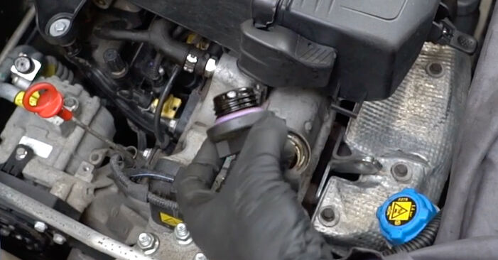 Changing Oil Filter on FIAT PANDA (169) 1.3 D Multijet 4x4 2006 by yourself