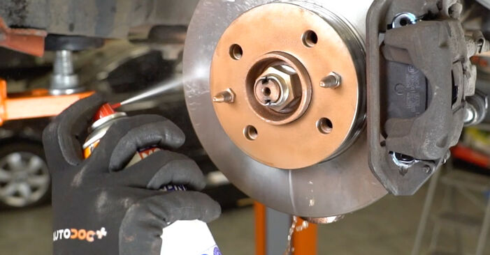 Kaip pakeisti Stabdžių diskas la Fiat Panda 169 2003 - nemokamos PDF ir vaizdo pamokos