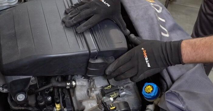 Svojpomocná výmena Vzduchový filter na aute Fiat Panda 169 2013 1.2