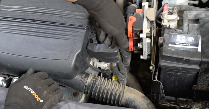 Fiat Panda 169 1.1 2005 Vzduchový filter výmena: bezplatné návody z našej dielne
