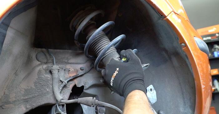 Wie schwer ist es, selbst zu reparieren: Stoßdämpfer Fiat Panda 169 1.4 2009 Tausch - Downloaden Sie sich illustrierte Anleitungen