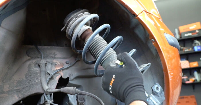 How to replace Strut Mount on FIAT PANDA (169) 2008: download PDF manuals and video instructions