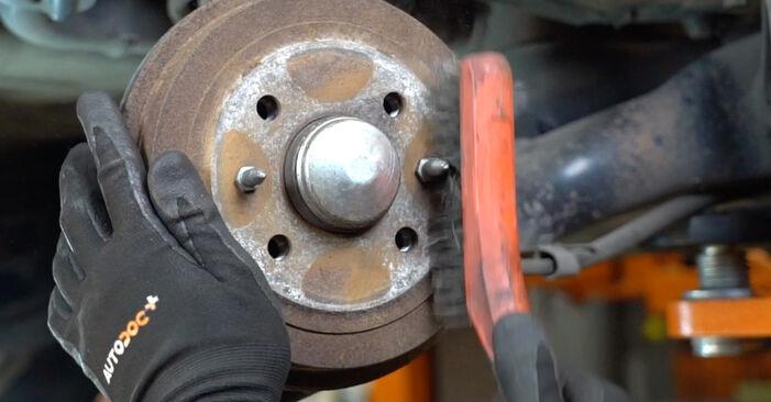 Come rimuovere FIAT PANDA 1.2 4x4 2007 Cuscinetto Ruota - istruzioni online facili da seguire
