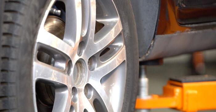Touran 1t1 1t2 2.0 TDI 16V 2005 Molla Ammortizzatore sostituzione: manuali dell'autofficina