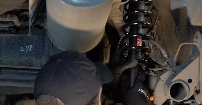 Recommandations étape par étape pour remplacer soi-même Toyota Prius 2 2009 1.5 (NHW2_) Ressort d'Amortisseur
