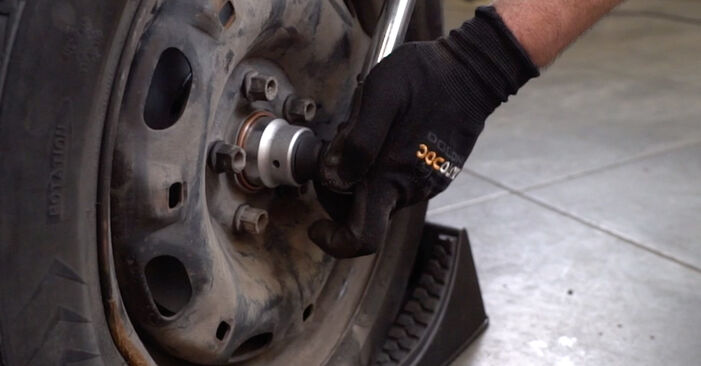 How to remove VW POLO 1.9 TDI 2005 Shock Absorber - online easy-to-follow instructions