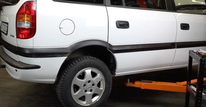 Federn Opel Zafira A 2.2 DTI 16V (F75) 2001 wechseln: Kostenlose Reparaturhandbücher