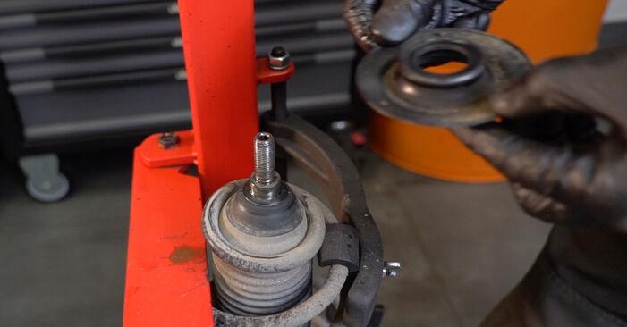 Hvordan man fjerner VW POLO 1.6 2013 Fjeder - nem at følge online instruktioner