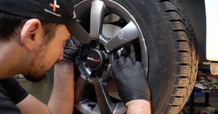 Hvor svært er det at gør-det-selv skifte Fjeder på VW Polo 5 Sedan 1.4 TSi 2015 - hent illustreret vejledning