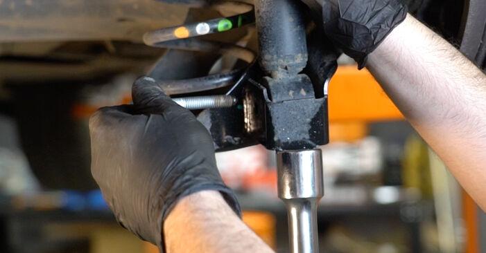 Polo Sedan (602, 604, 612, 614) 1.6 2020 Vzmeti DIY menjava, priročnik delavnice