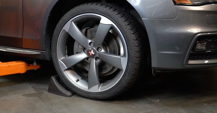 Kako težko to naredite sami: Vzmeti zamenjava na Audi A4 B8 Sedan 1.8 TFSI 2013 - prenesite slikovni vodnik