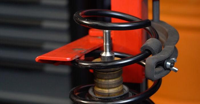 BMW 5 SERIES 2008 Ressort d'Amortisseur manuel de remplacement étape par étape