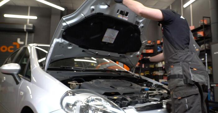 Как се сменя Пружинно окачване на Fiat Punto 199 2008 - безплатни PDF и видео уроци