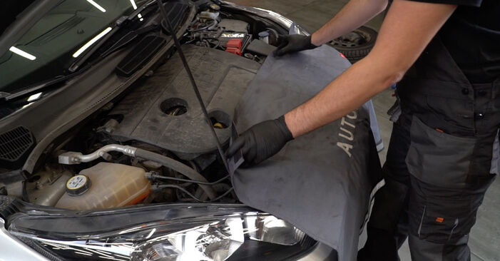 How to replace FORD Fiesta Mk6 Hatchback (JA8, JR8) 1.25 2009 Springs - step-by-step manuals and video guides