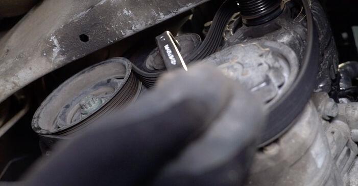 Как се сменя Многоклинов(пистов) ремък на VW POLO (9N_) 1.2 2004 самостоятелно