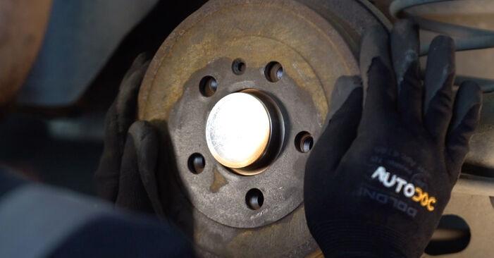 Wie Radlager VW POLO (9N_) 1.2 12V 2002 austauschen - Schrittweise Handbücher und Videoanleitungen
