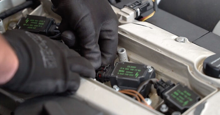 How to remove MERCEDES-BENZ C-CLASS C 200 CDI 2.2 (203.007) 2004 Ignition Coil - online easy-to-follow instructions