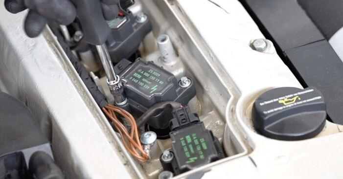 How to replace Ignition Coil on MERCEDES-BENZ C-Class Saloon (W203) 2005: download PDF manuals and video instructions