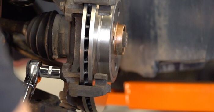 How to replace Brake Discs on MINI Hatchback (R50, R53) 2006: download PDF manuals and video instructions