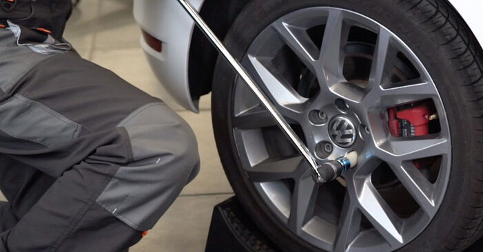 How to replace VW GOLF VI (5K1) 1.6 TDI 2009 Strut Mount - step-by-step manuals and video guides