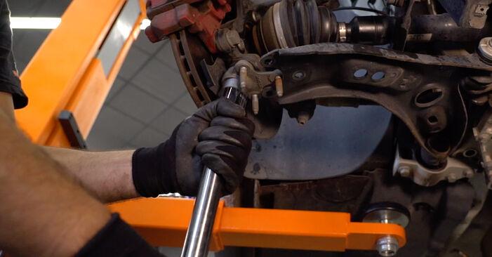 VW GOLF 2003 Tårnleje trin-for-trin udskiftnings manual