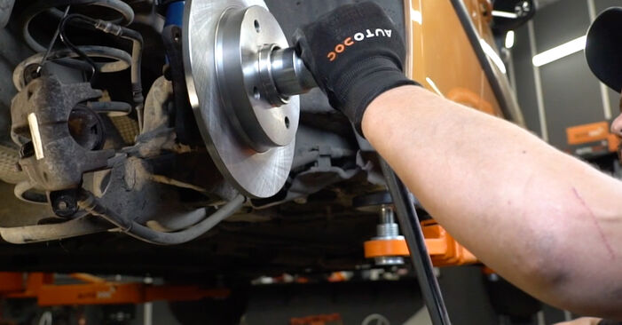 Changing of Brake Discs on PEUGEOT 207 (WA_, WC_) 2014 won't be an issue if you follow this illustrated step-by-step guide