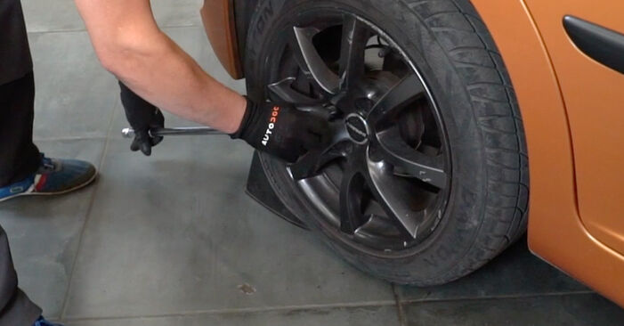 How to replace PEUGEOT 207 (WA_, WC_) 1.4 HDi 2007 Brake Discs - step-by-step manuals and video guides
