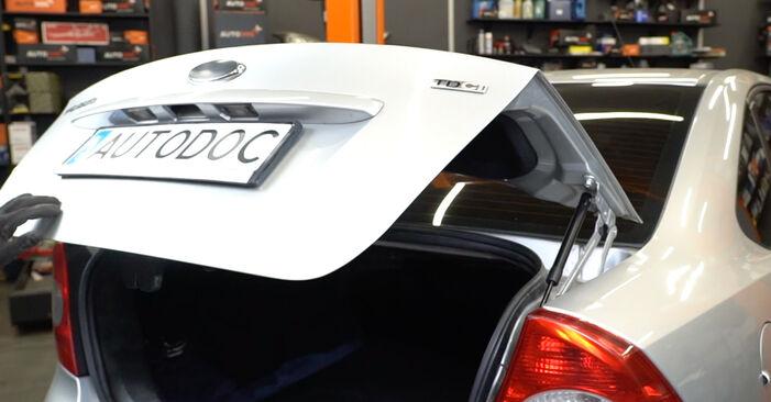 Kaip pakeisti Bagazines Amortizatorius la Ford Focus mk2 Sedanas 2004 - nemokamos PDF ir vaizdo pamokos