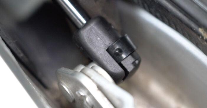 Ar sudėtinga pasidaryti pačiam: Ford Focus mk2 Sedanas 1.4 2010 Bagazines Amortizatorius keitimas - atsisiųskite iliustruotą instrukciją