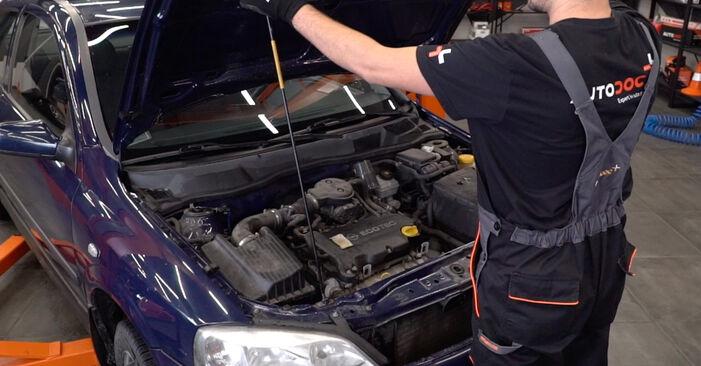 Hur byta Fjäderbenslagring på Opel Astra g f48 1998 – gratis PDF- och videomanualer