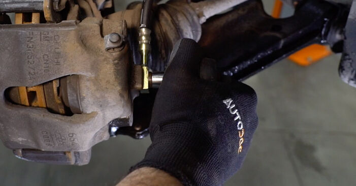 DIY replacement of Brake Hose on OPEL Astra G CC (T98) 1.4 16V (F08, F48) 2000 is not an issue anymore with our step-by-step tutorial