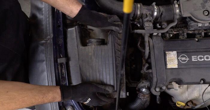 Wie schwer ist es, selbst zu reparieren: Motorlager Opel Astra g f48 2.0 DI (F08, F48) 2004 Tausch - Downloaden Sie sich illustrierte Anleitungen