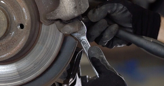Changing of Brake Pads on RENAULT MEGANE II Saloon (LM0/1_) 2009 won't be an issue if you follow this illustrated step-by-step guide