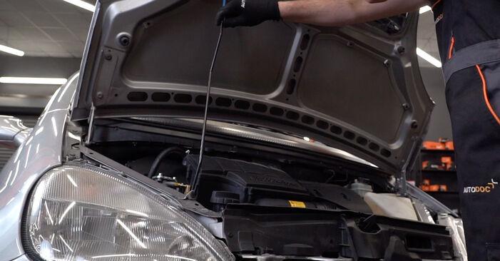 Kaip pakeisti Amortizatoriaus Atraminis Guolis la Mercedes W168 1997 - nemokamos PDF ir vaizdo pamokos