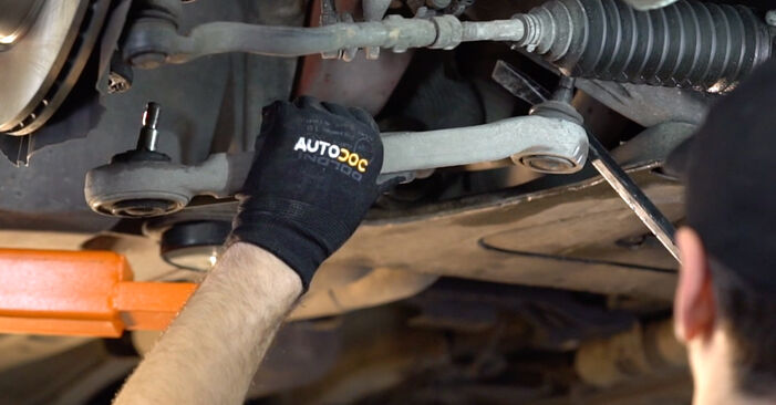 How to replace BMW 3 Convertible (E46) 330Ci 3.0 1999 Control Arm - step-by-step manuals and video guides