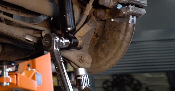 Wie schwer ist es, selbst zu reparieren: Domlager BMW 3 Touring (E46) 330xd 2.9 2004 Tausch - Downloaden Sie sich illustrierte Anleitungen