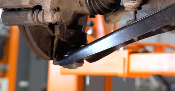 How to remove TOYOTA AYGO 1.4 HDi 2009 Control Arm - online easy-to-follow instructions